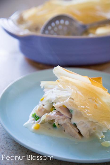 Lighter chicken pot pie: a perfect weeknight dish
