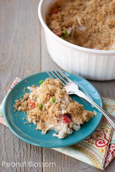 Freezer-friendly Chicken Alfredo Rice Casserole for busy families