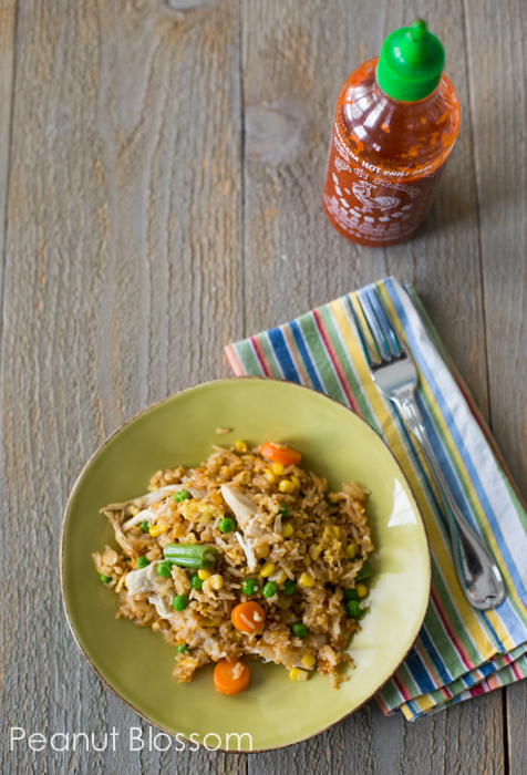 Super simple chicken fried rice | Peanut Blossom
