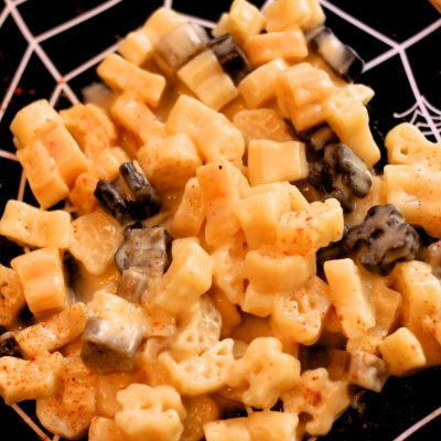 Halloween Stovetop Mac and Cheese