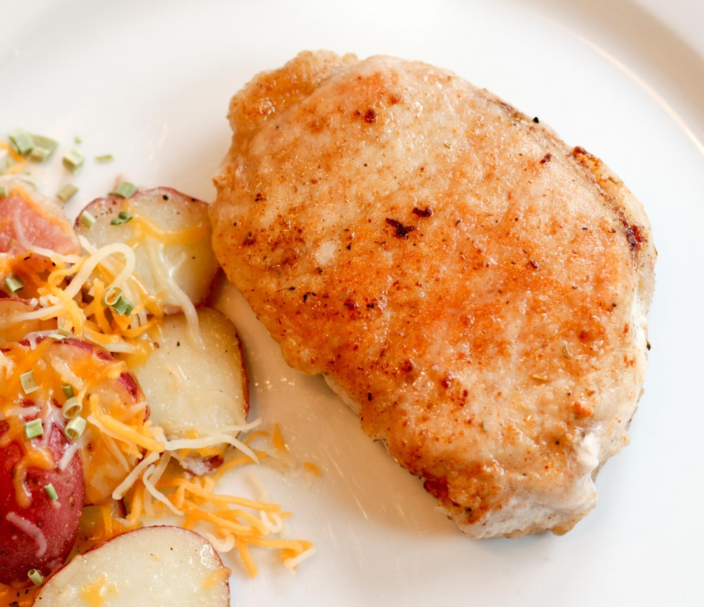 Panfried pork chops that don't suck