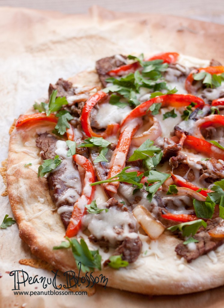 Easy Philly cheese steak pizza: with a surprising secret ingredient