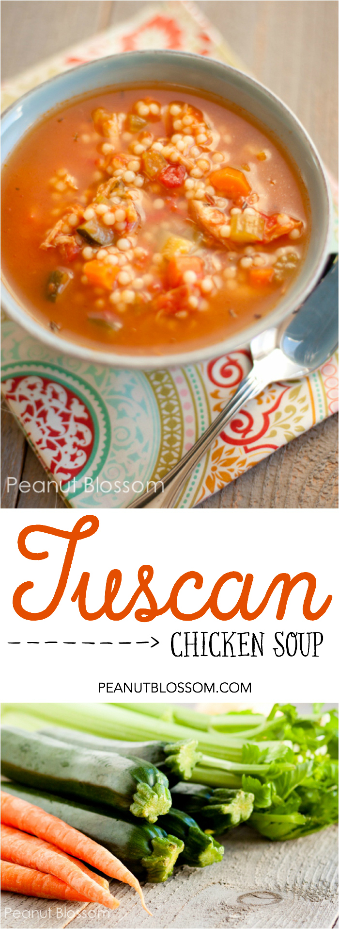 How to make amazing Tuscan Chicken Soup with a rotisserie chicken