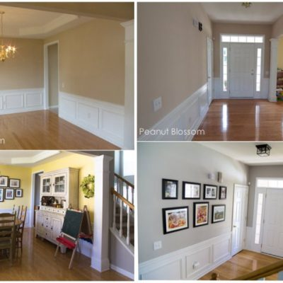 Entryway & dining room transformation