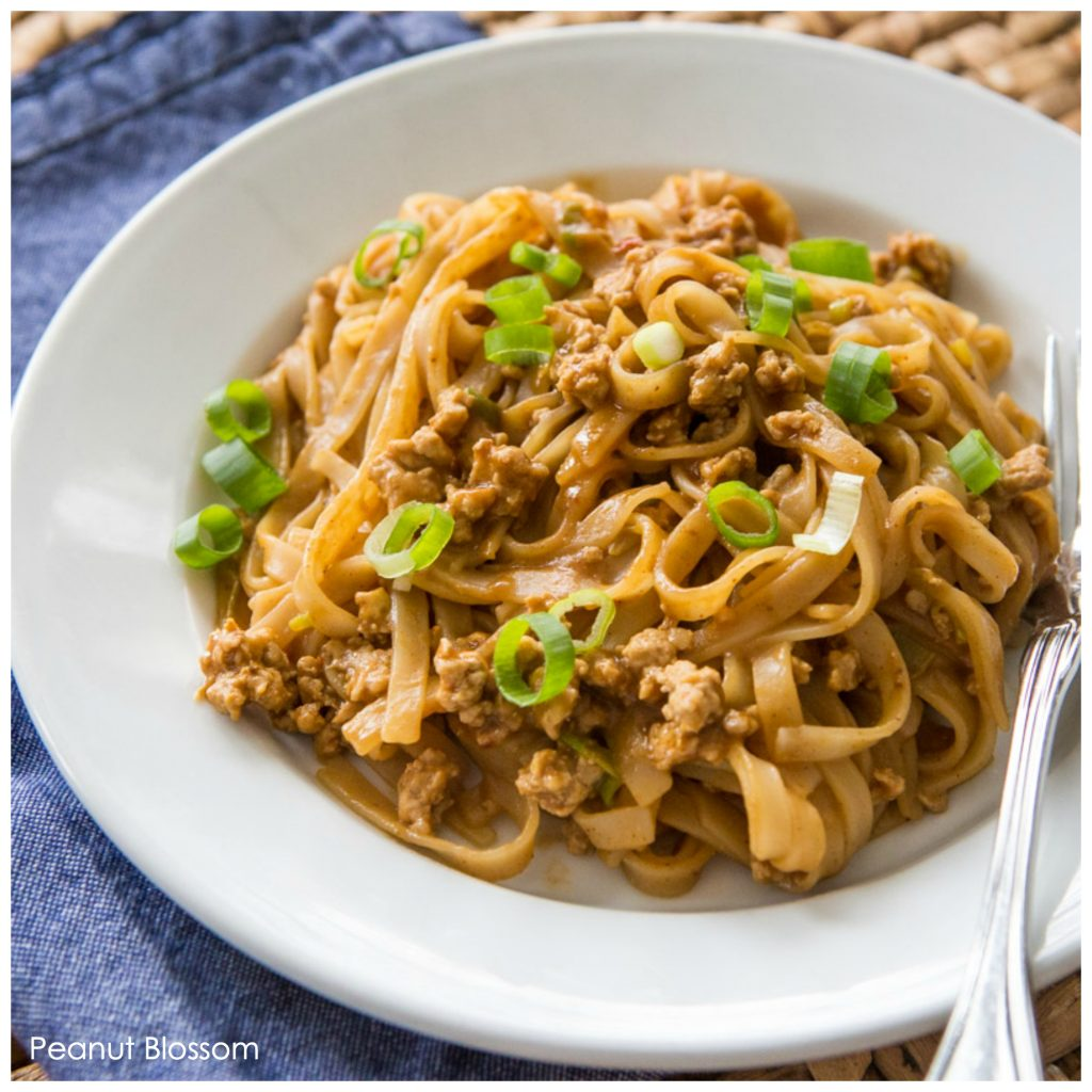 This creamy Chinese noodles recipe features budget-friendly ground pork and a spicy peanut butter sauce. Perfect for a quick dinner on a busy weeknight.