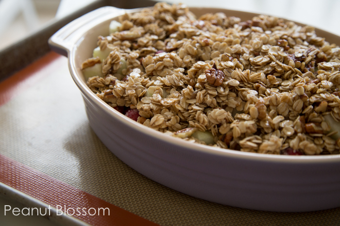Apple cranberry crumble for Thanksgiving