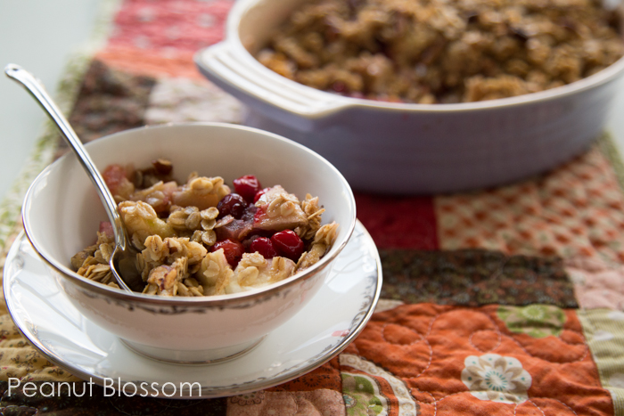 Cranberry apple crumble for Thanksgiving