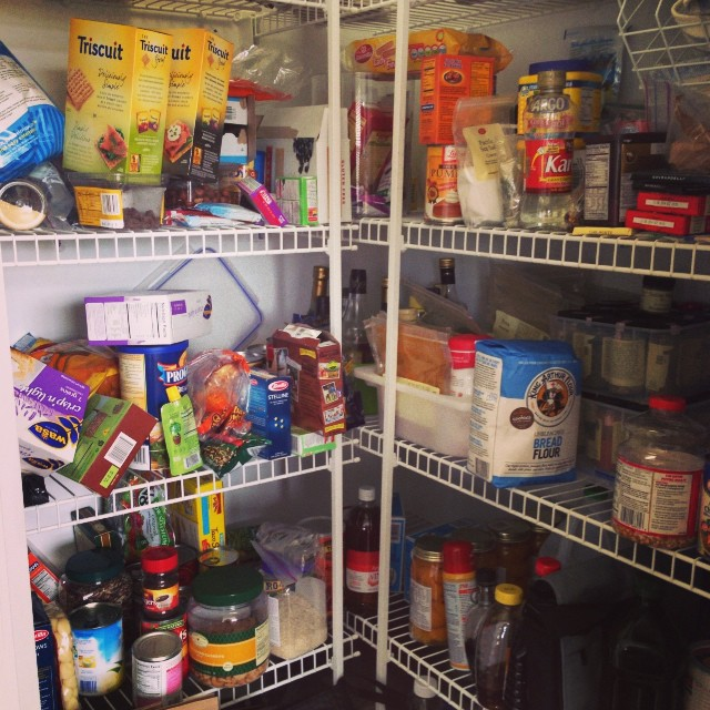 """Messy """"before"""" pantry"""