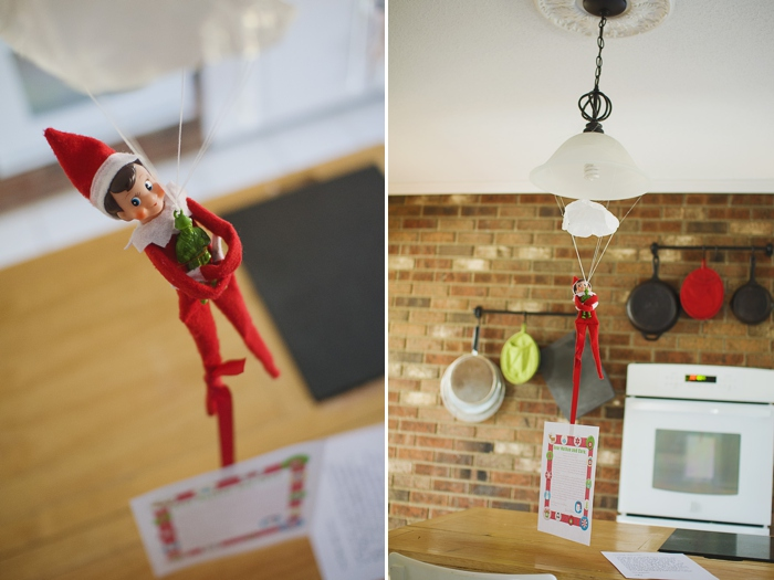 Elf on the Shelf parachute
