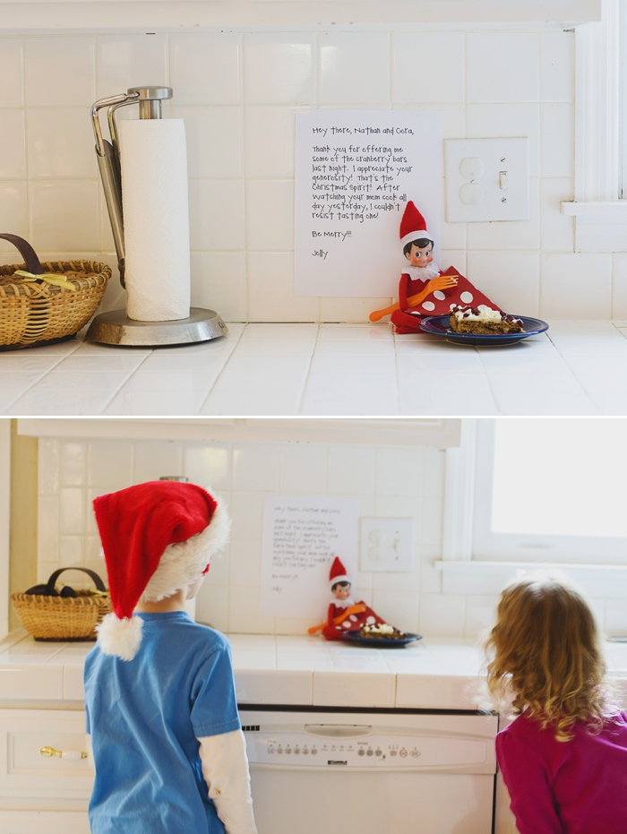 elf on the shelf eats starbucks cranberry