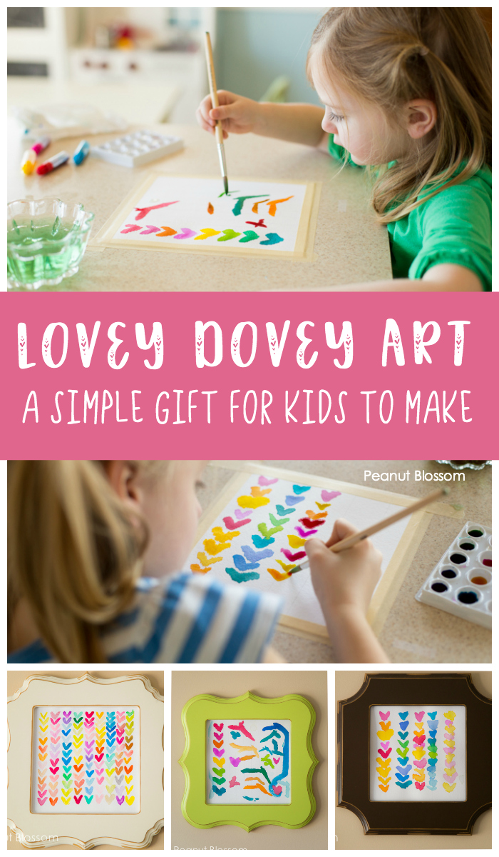 Love Dovey Art: A simple water color painting gift for kids to make for their families.