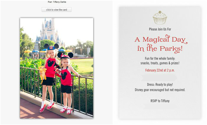 Digital invitation for a Disney Party | Peanut Blossom