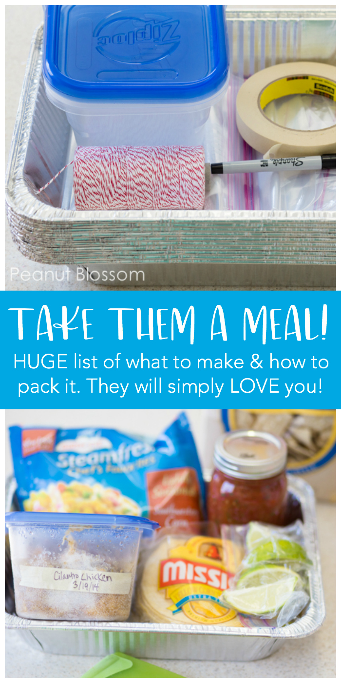 How to take them a meal train dinner. 30+ recipes for bringing the best dinner to a friend in need. Tips for how to pack a meal train dinner and how to avoid endless pasta.