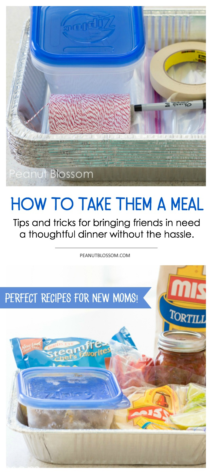 How to package up a meal train dinner for a new mom