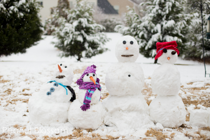 Project 52: Snowman Family | Peanut Blossom