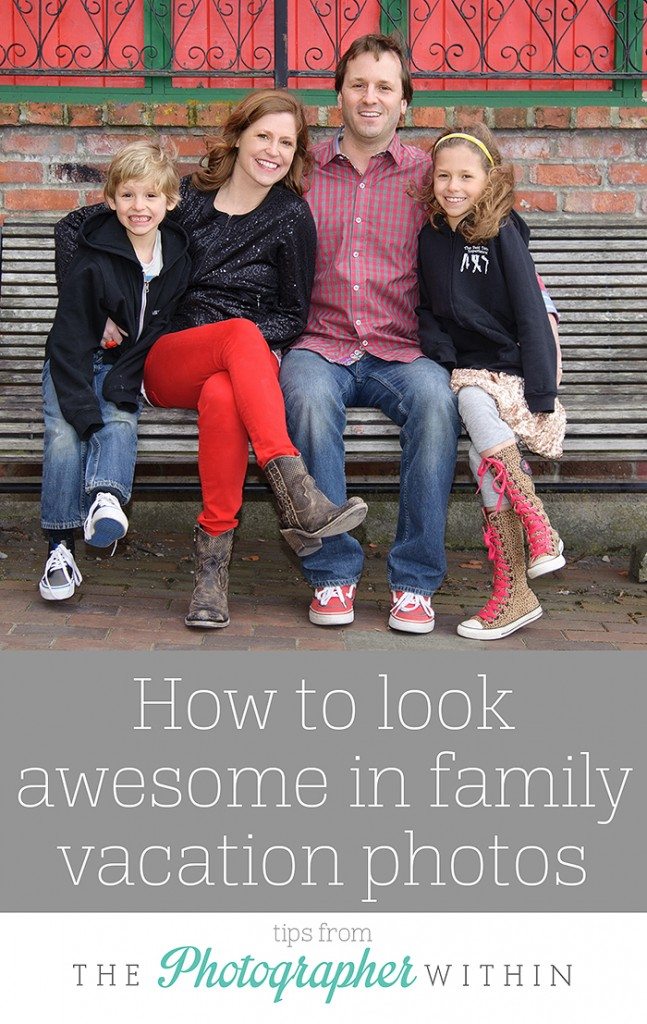 How to look awesome in family vacation photos, awesome tips from The Photographer Within on Peanut Blossom