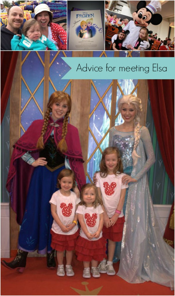 "Real moms of Disney: Advice from those in the trenches of planning! Love these great suggestions for the character greeting with the ""Frozen"" princesses!!"