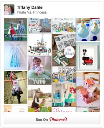 Pirate vs. Princess: a Pinterest board