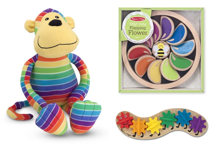 Adorable rainbow toys from Melissa & Doug