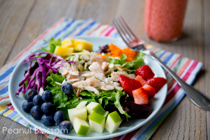 Rainbow of flavors, awesome summer salad! | Peanut Blossom