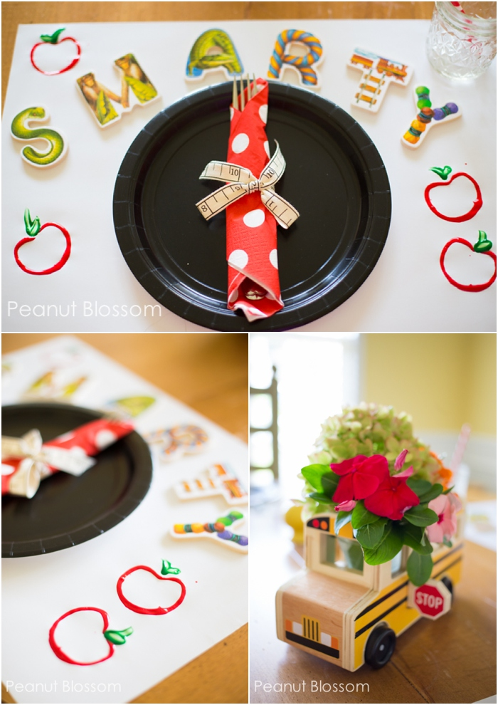 3 simple decorations for a sweet and adorable Back to School dinner