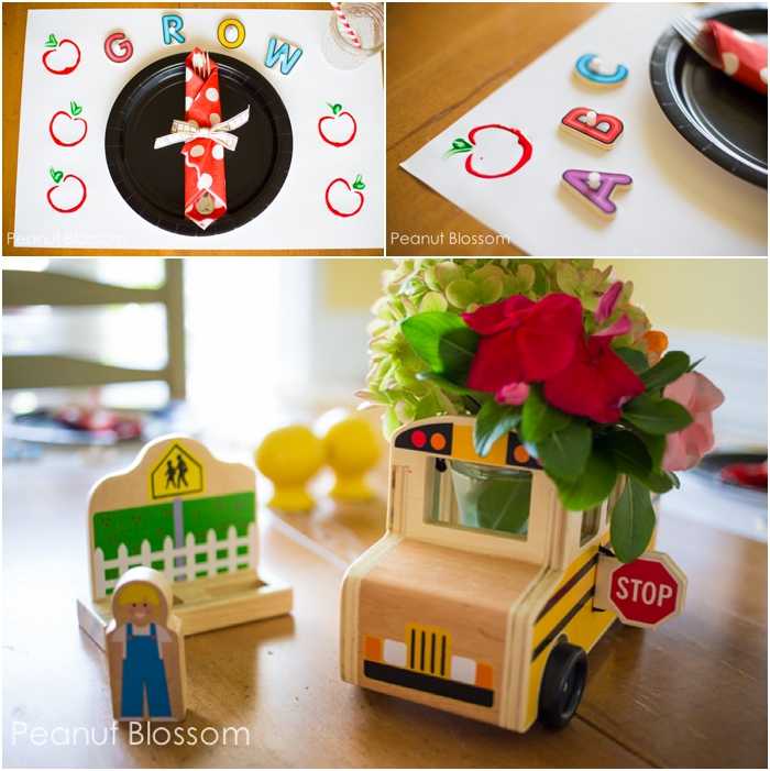 3 simple decorations for a Back to School feast