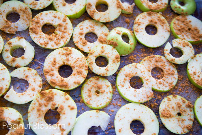Homemade apple chips from 100 Days of Real Food