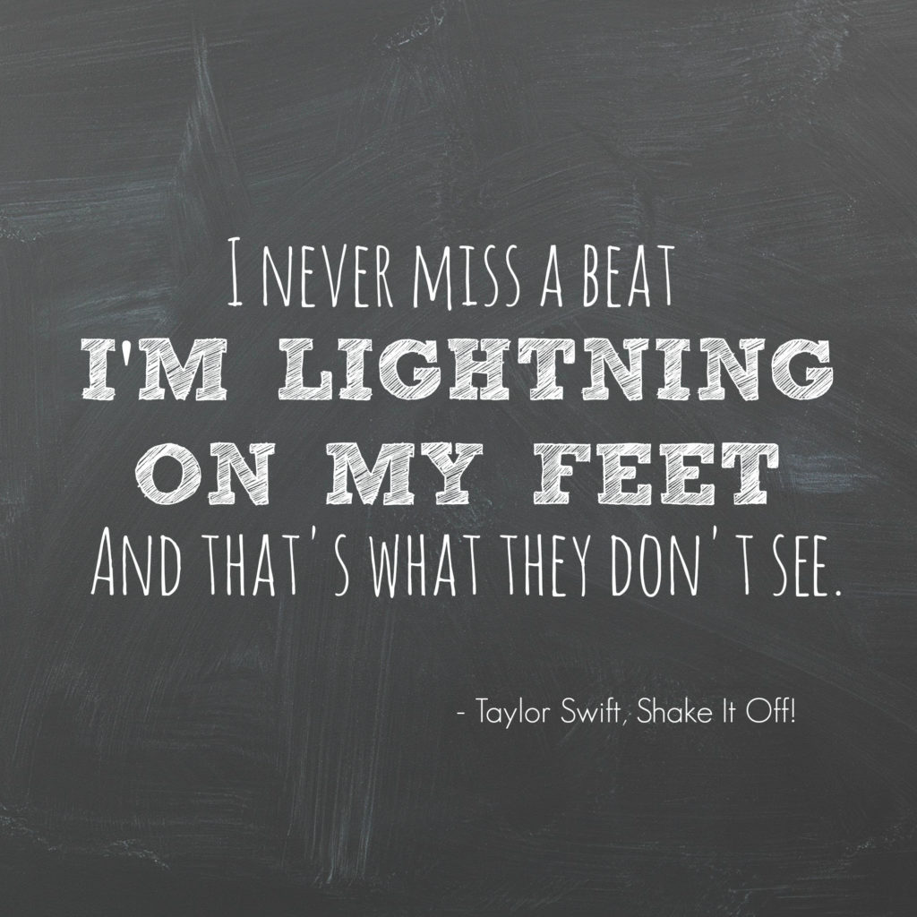 I'm lightning on my feet!: Awesome tune for your running playlist!