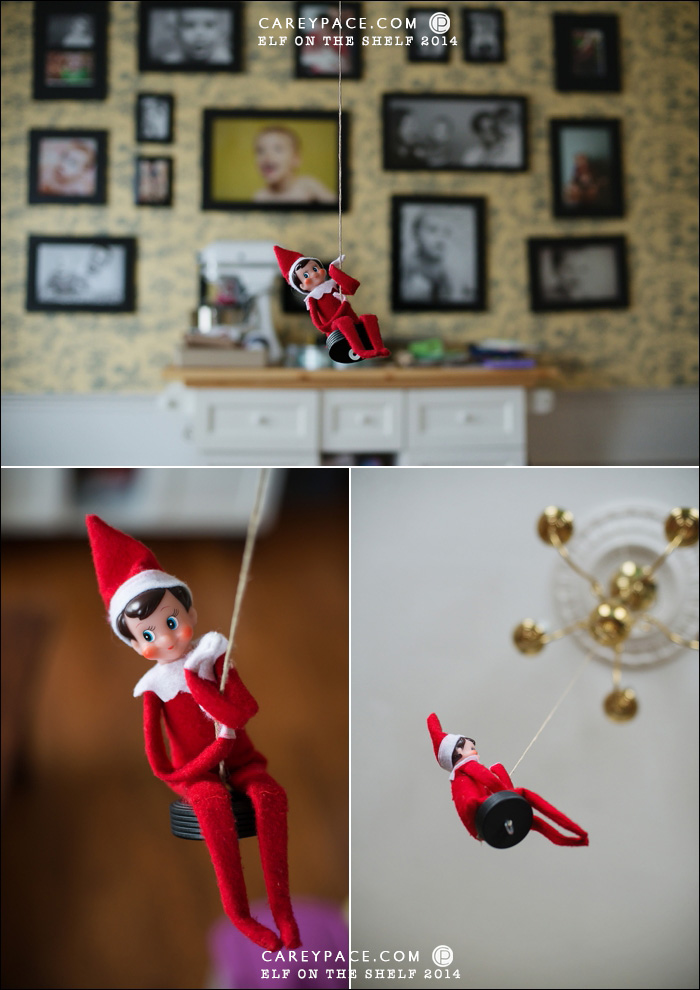 Elf on the Shelf Disc Swing