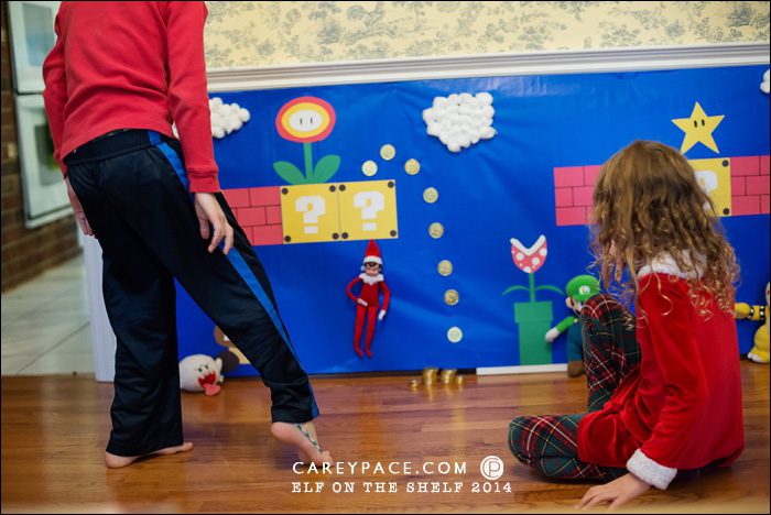 Elf on the Shelf goes Super Mario Brothers by Carey Pace 2014