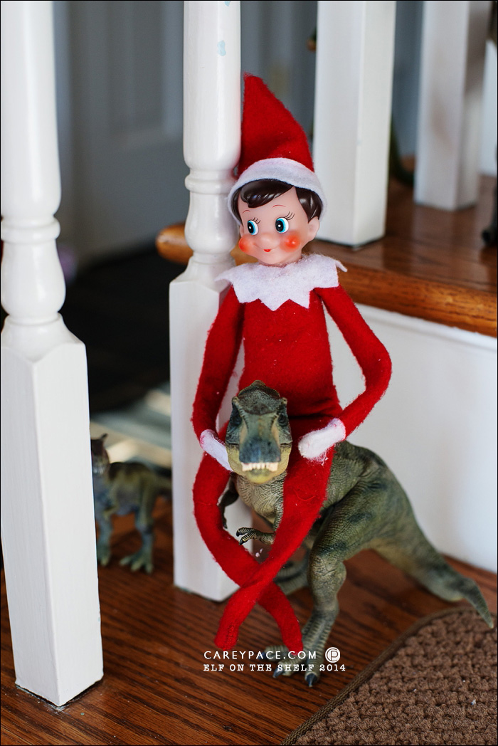 Elf on the Shelf Dinosaur Parade by Carey Pace