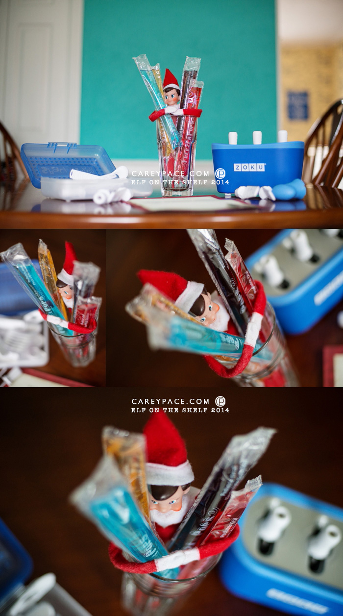 Elf on the Shelf brings popsicles by Carey Pace