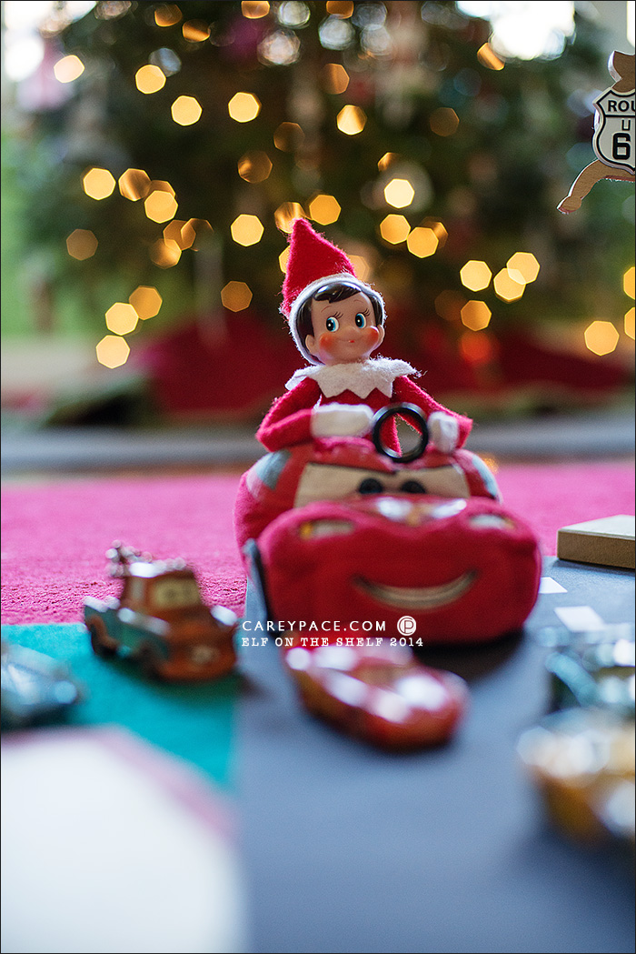 Elf on the Shelf with Disney Cars by Carey Pace 2014