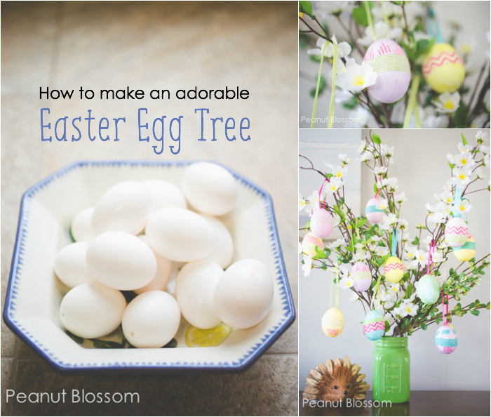 Adorable easter egg tree idea for kids How to make an easter egg tree