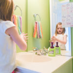 They will WANT to wash their hands: budget friendly kids bathroom decor