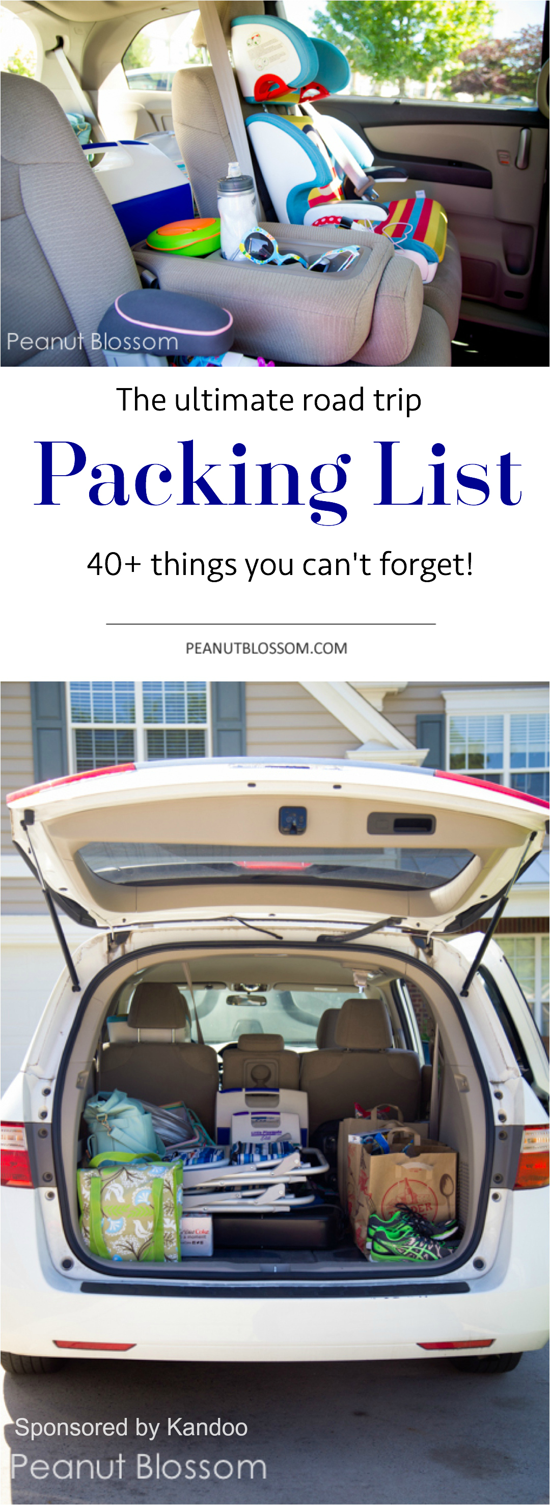 how to pack a minivan for a road trip
