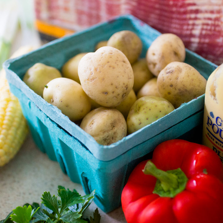 farmer's market fresh: summer potato salad with bacon
