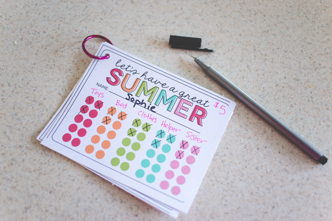 Curbing chaos: printable chore cards for summer