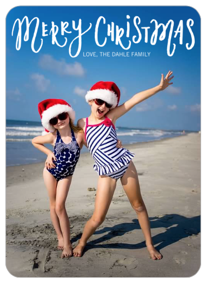 Cute beach photo for Christmas cards