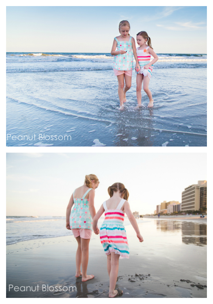 Beach picture ideas, tip #3: Capture kids from both the front and the back
