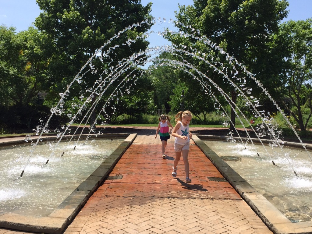 The arch fountain at the Daniel Stowe Botanical Garden Charlotte