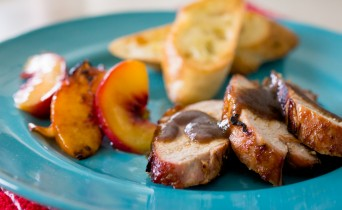 Rum glazed pork tenderloin