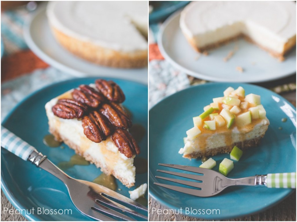 Caramel apple cheesecake & pecan pie cheesecake toppings buffet
