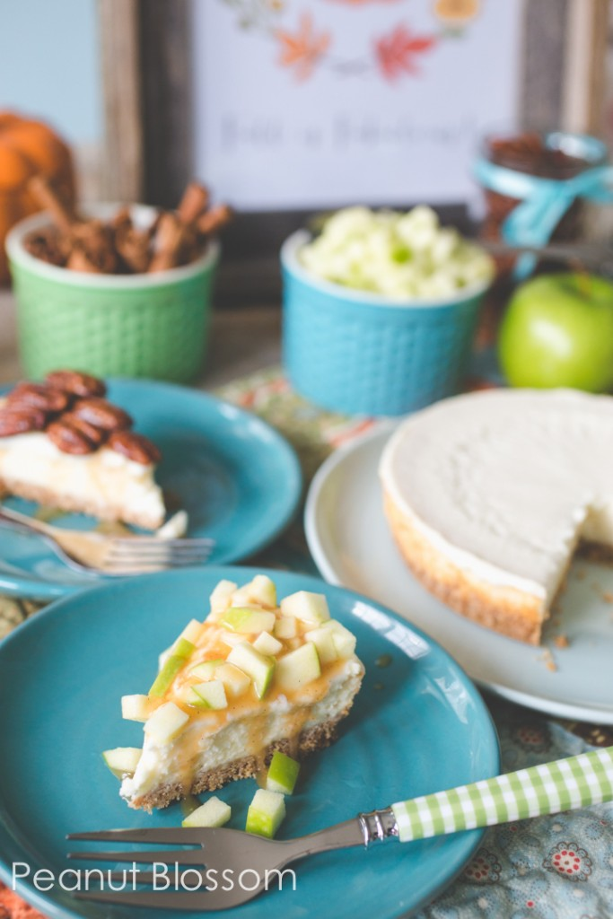 Caramel apple & pecan pie cheesecake toppings buffet