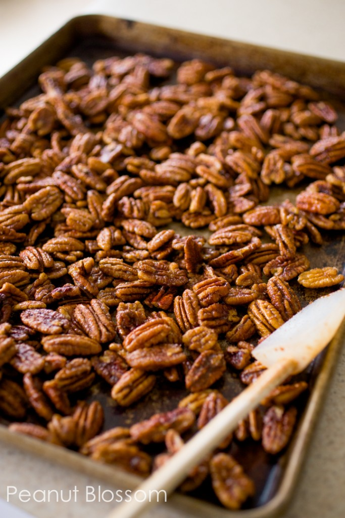 Spiced pecans for the holidays