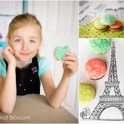Sweet and simple homemade macarons perfect for your little baker