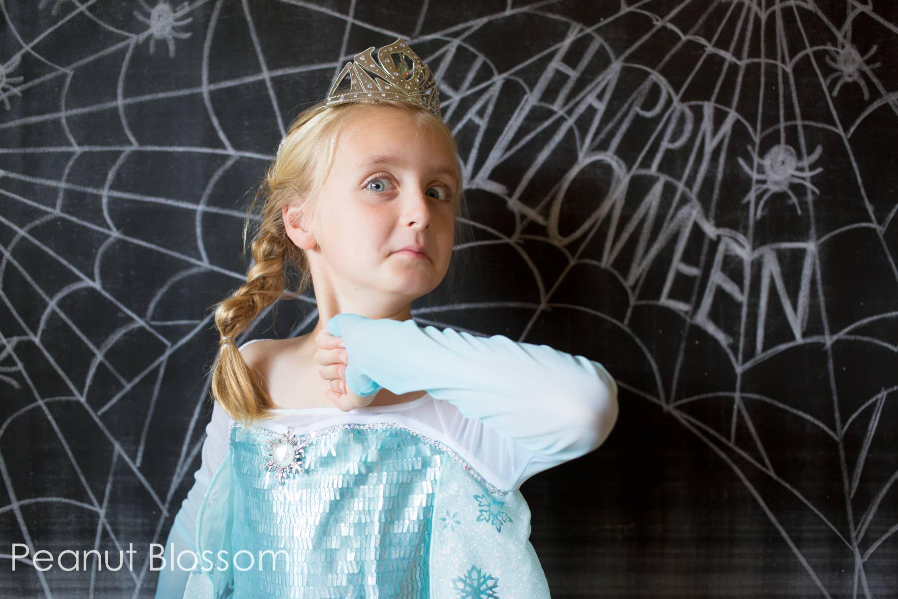 A tale of 2 sisters: 1 Halloween, 2 Elsa Dresses, and an enormous heart.