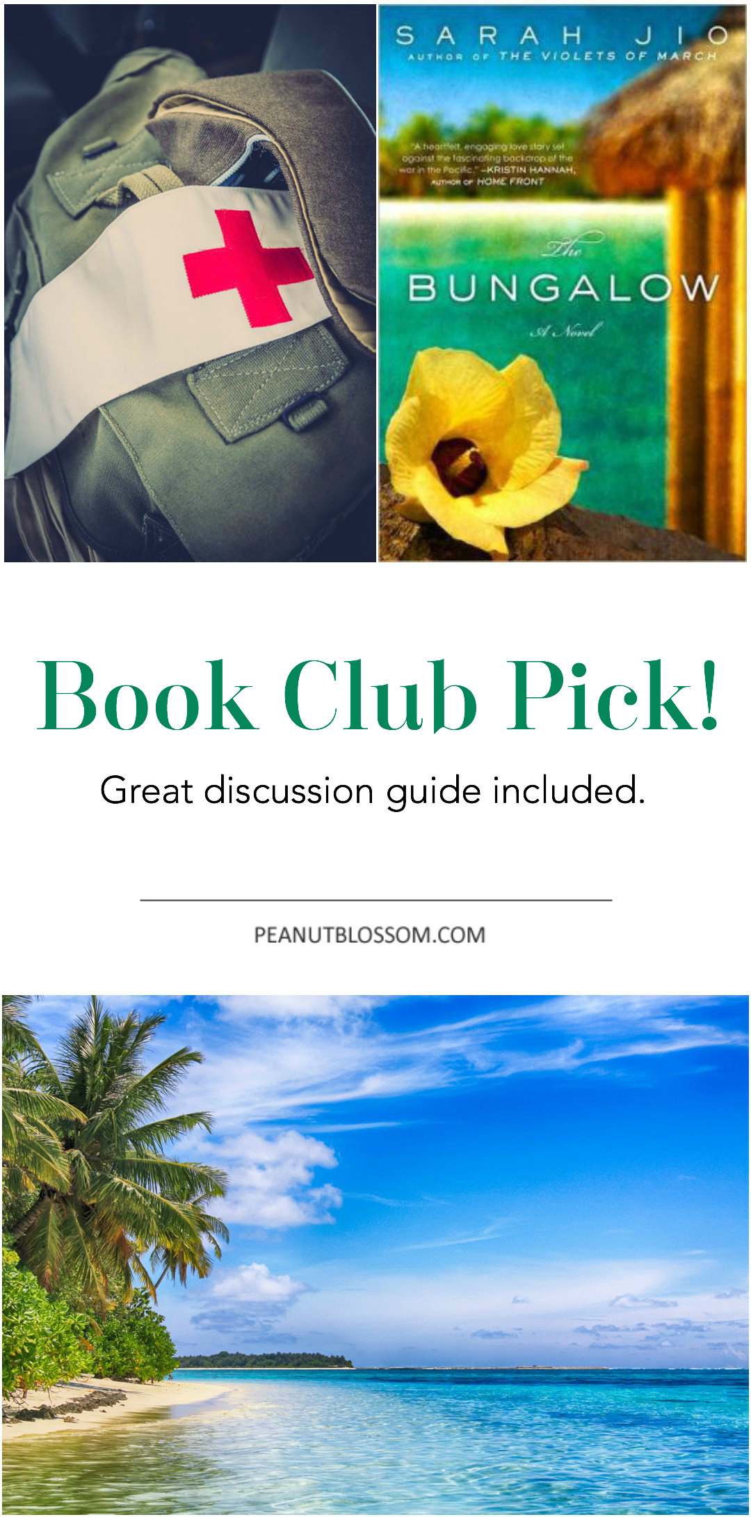 The Bungalow by Sarah Jio: The perfect pick for your next book club meeting. Check out the great discussion questions included.