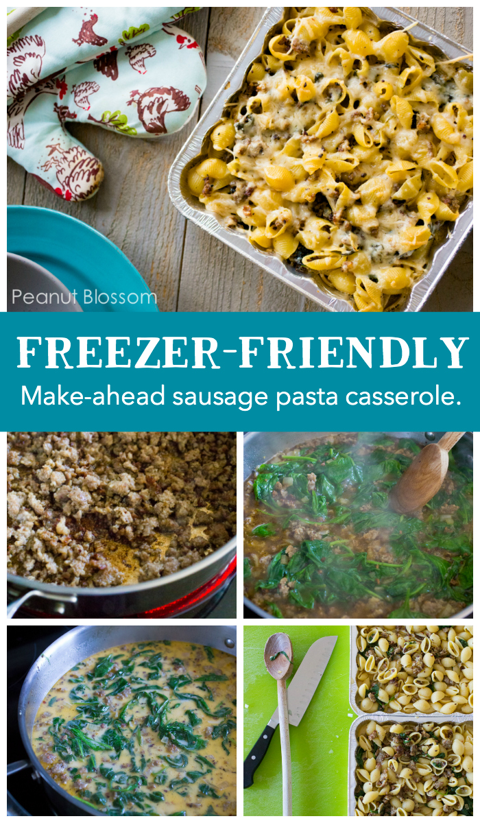 This is one of the easiest Jimmy Dean sausage recipes ever! It's a perfect make-ahead meal. The Italian sausage and spinach casserole is a great freezer dinner.