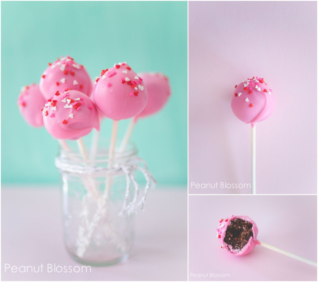3 ingredient brownie pops for Valentine's Day